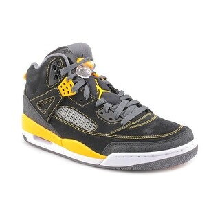Nike Jordan Spizike Men Round Toe Leather Black Basketball Shoe