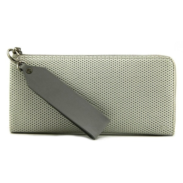 Skagen L Zip Clutch VL19 Women Leather Ivory Wristlet