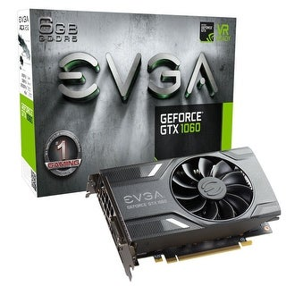 EVGA GeForce GTX 1060 GAMING, ACX 2.0 (Single Fan), 06G-P4-6161-KR, 6GB GDDR5, DX12 OSD Support (PXOC), Only 6.8 Inches