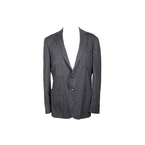 Michael Kors Dark Grey Flannel Blazer 40R