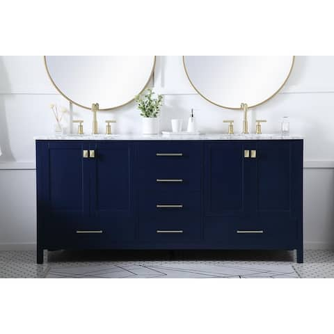 Willow Grove Vanity Cabinet with Marble Top