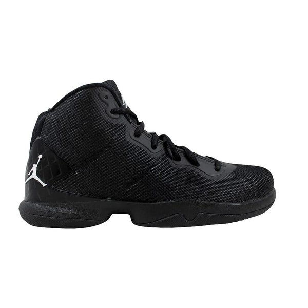 632521bef20d23 Shop Nike Air Jordan Super.Fly 4 BG Black White-Dark Grey-Infrared ...