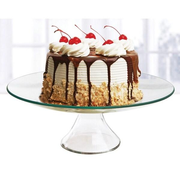 "Palais Glassware® Elegent Glass Cupcake or Cake Stand - Party Centerpiece (8"", Round)"