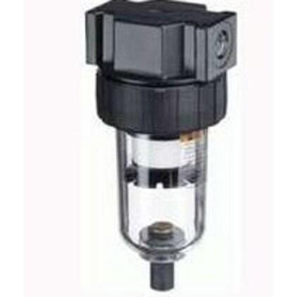 "Tru Flate 24-301 Compact Air Line Filter, 1/4"" Nptf, Polycarbonate"