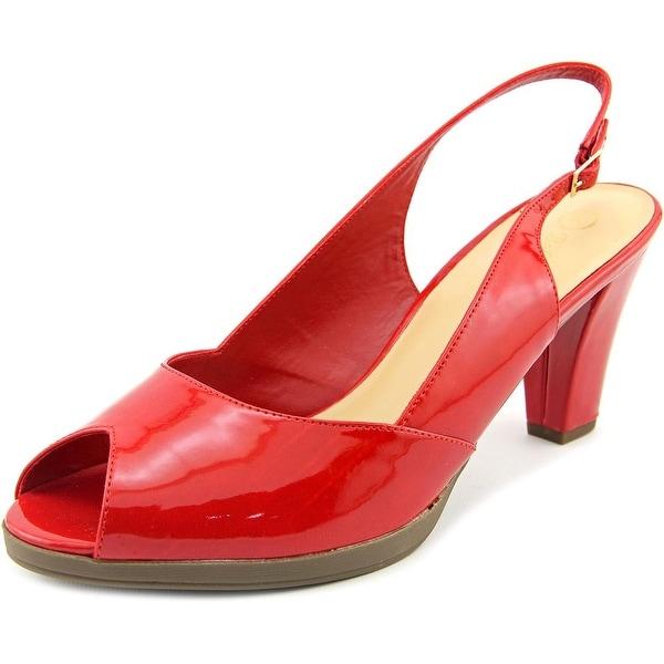 Bella Vita Liset II Women Peep-Toe Synthetic Slingback Heel