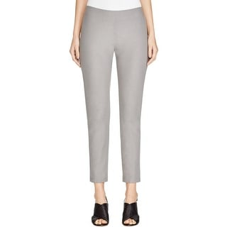 Eileen Fisher Womens Ankle Pants Solid Stretch