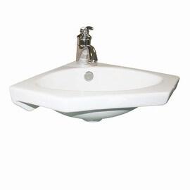 White Modern Corner Sink Wall Mount Bathroom