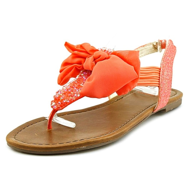 Material Girl Swan Women Open Toe Synthetic Pink Thong Sandal