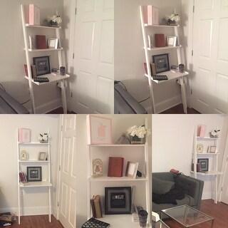 White Three-tier Leaning Laptop Shelf