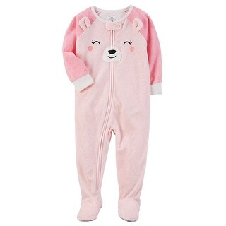 Carter's Little Girls' 1 Piece Bear Fleece Pajamas, 4-Toddler