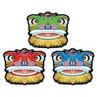 """Pack of 36 Asian Chinese New Year Colorful Dragon Cutout Party Decorations 14.25"""" - Multi"""