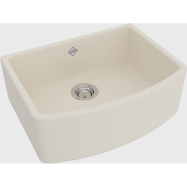 "Rohl RC3021 Shaws Waterside 27-1/2"" Single Basin Farmhouse Fireclay Apron Kitchen Sink - White"