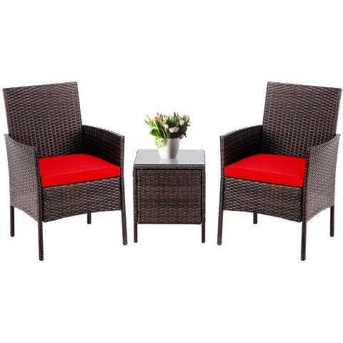 Pheap Outdoor 3-piece Wicker Bistro Set by Havenside Home