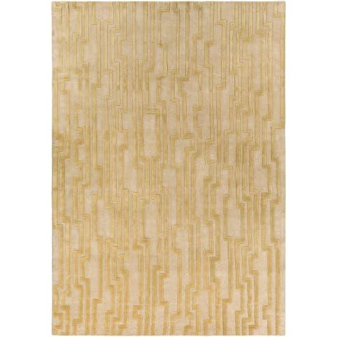 Hand-tufted Modern Geometric Wool Area Rug
