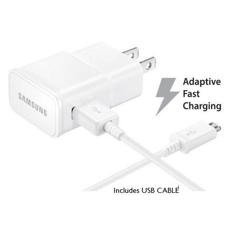 Samsung Adaptive Fast Wall Charge w micro usb Cable White Bulk Packing
