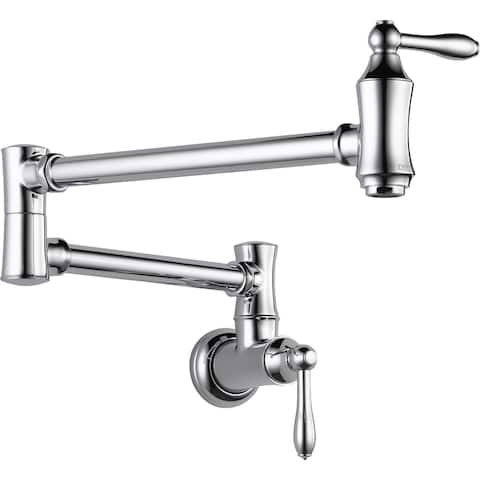 Delta 1177LF Traditional Wall Mounted Pot Filler with Dual Swing