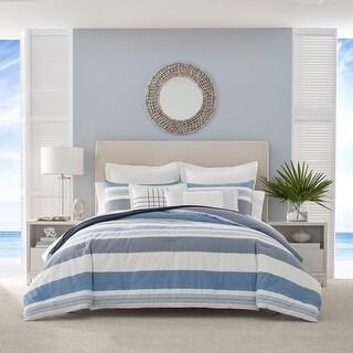 Nautica Langford Blue Cotton Comforter Set