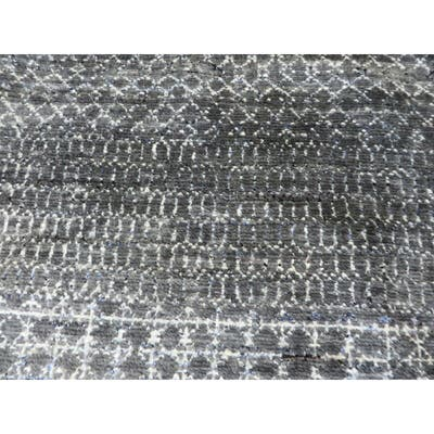 """Hand Knotted Gray Gabbe with Wool Oriental Rug (6' x 6'2"""") - 6' x 6'2"""""""