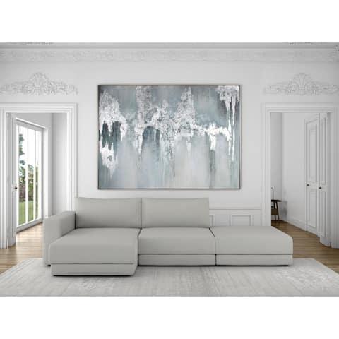 Exquisite Aquamarine, Hand Painted Canvas