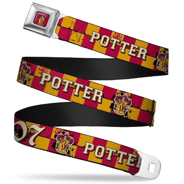 Gryffindor Crest Full Color Red Gryffindor Crest Potter 07 Checker Gold Red Seatbelt Belt