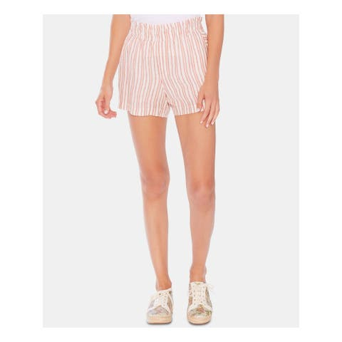 VINCE CAMUTO Womens Red Striped Short Size XL