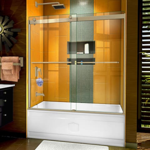 "DreamLine Sapphire Semi-frameless Glass Bypass Tub Door - 56"" - 60"" W"