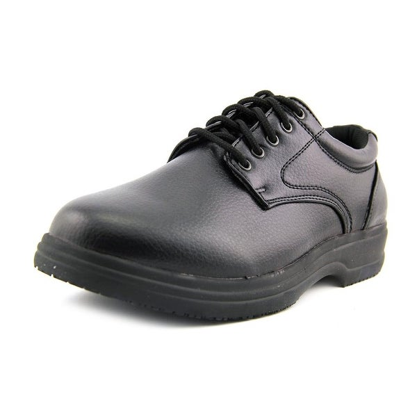 DS Work Service Men Round Toe Synthetic Black Work Shoe