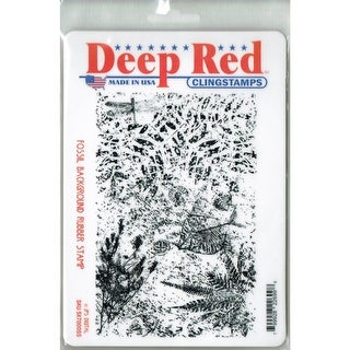 Deep Red Stamps Fossil Rubber Cling Stamp - 4 x 6