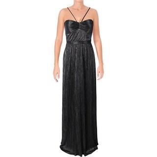 Laundry by Shelli Segal Womens Formal Dress Metallic Halter - 6