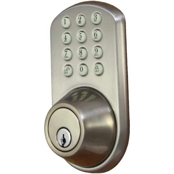 Morning Industry Inc Touchpad Electronic Dead Bolt (satin Nickel)