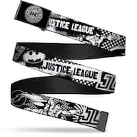Dc Originals Reverse Brushed Silver Cam Justice League Superheroes Web Belt