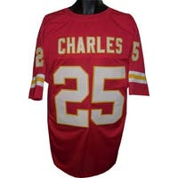 Jamaal Charles unsigned Red Custom Stitched Pro Style Football Jersey XL