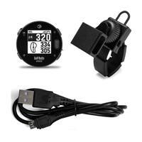 GolfBuddy VoiceX Golf GPS Rangefinder (Black) with Universal Golf Cart Mount