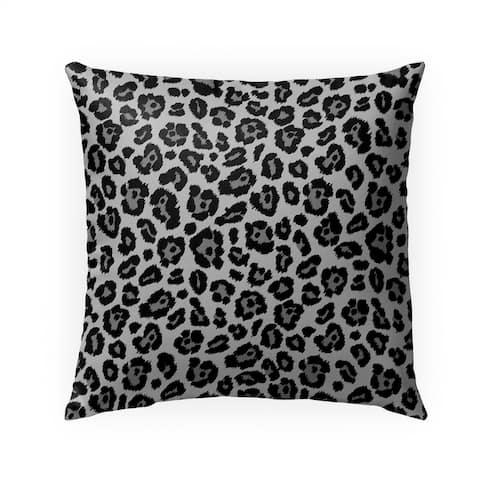 LEOPARD PRINT BLACK Indoor Outdoor Pillow By Kavka Designs