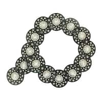 Nocona Western Belt Womens Eyelet Disk Floral Wide Studs N342520