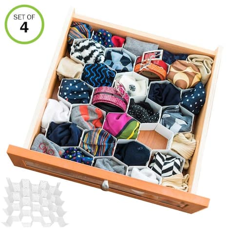 Evelots Drawer Organizer-Divider-Sock-Belt-Scarf-Underwear