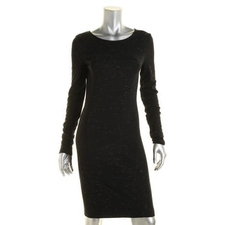 Three Dots Womens Marled Long Sleeves Wear to Work Dress