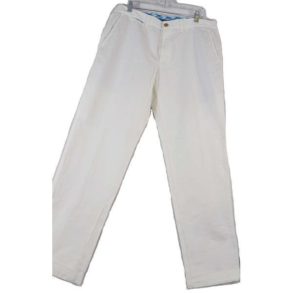 Tommy Bahama 100% Pima Cotton White Size 34X34 Pants