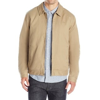 Quiksilver NEW Beige Elmwood Mens Size Large L Basic Jacket Cotton