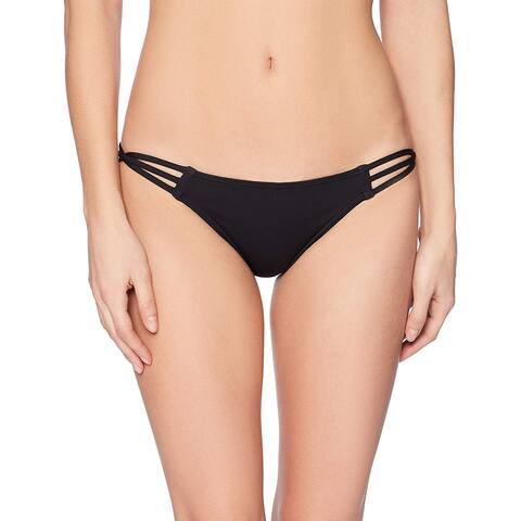 O'Neill Women's Salt Water Solids Strappy Pant Swimsuit, M, Black, Size Medium