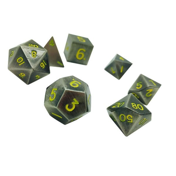 Shop Norse Foundry 7pc Rpg Metal Dice Set Blacksmiths Anvil Overstock 30967307 ~dice color and finish will vary~. overstock com