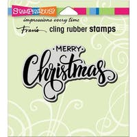 Stampendous Cling Stamp -Merry Greeting