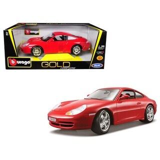 Porsche 911 Carrera 4 Red Gold Collezione 1/18 Diecast Model Car by Bburago