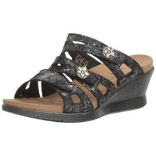 Romika Womens Nevis 04 Leather Open Toe Casual Platform Sandals