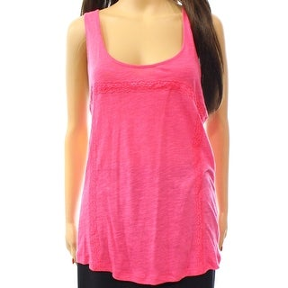 PJ Salvage NEW Pink Womens Size Small S Lace Inset Burnout Sleepshirt