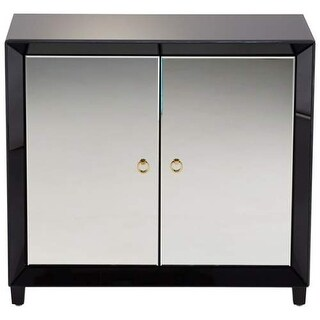 Cyan Design Omar Cabinet Omar 35.75 Inch Tall Wood and Mirrored Glass Cabinet - Clear