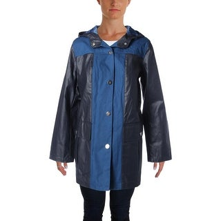 Tommy Hilfiger Womens Canvas Hooded Raincoat - L