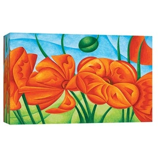 """PTM Images 9-101698  PTM Canvas Collection 8"""" x 10"""" - """"Poppies Vi"""" Giclee Poppies Art Print on Canvas"""