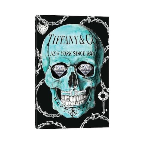 "iCanvas ""Tiffany Skull"" by Studio One Canvas Print"