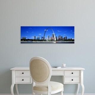 Easy Art Prints Panoramic Images's 'Skyline, St Louis, MO, USA' Premium Canvas Art
